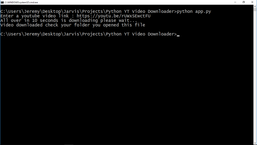 Youtube video downloader with python