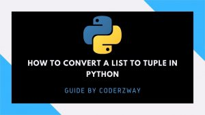 How to convert a list to tuple in python