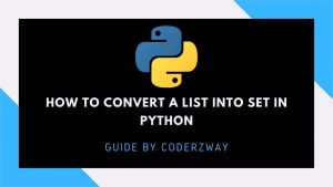 How to convert a list into set in python