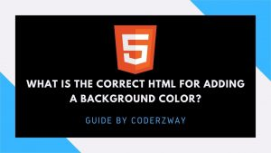 What is the correct HTML for adding a background color?