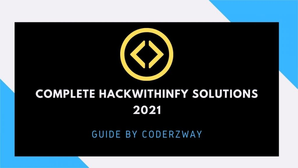 Hackwithinfy Solutions
